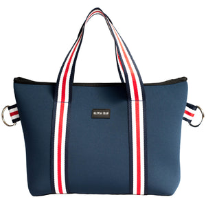 Harper (Navy) Mini Neoprene Tote Bag - neoprenebags