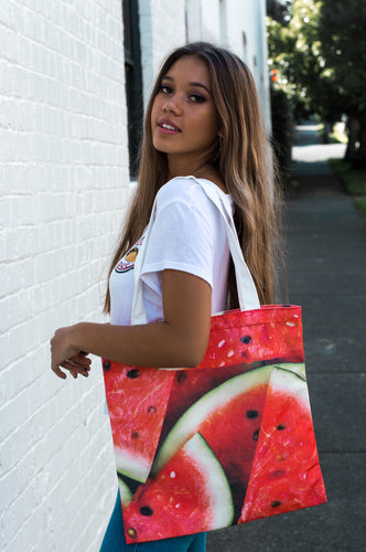 Watermelon Canvas Tote Bag - neoprenebags