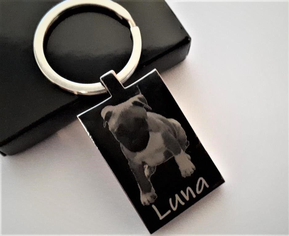 [personalised_mug]Custom Engraved Metal Photo Keyring Engraved Both sides - status mugs