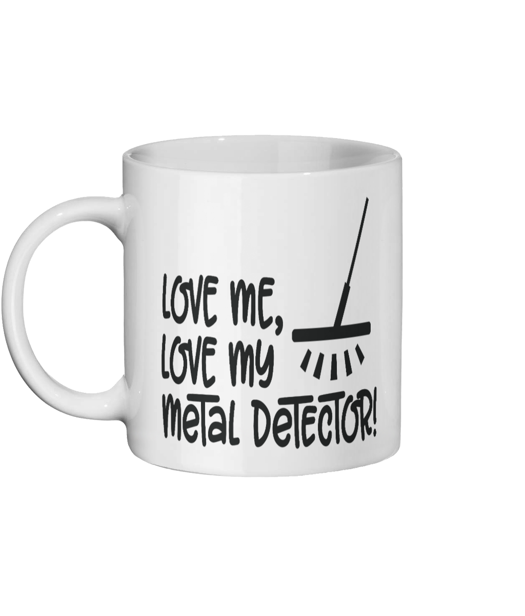 [personalised_mug]Love My Metal Detector-Customised Coffee Mug - status mugs