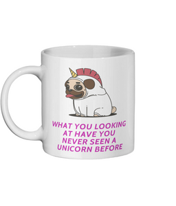 [personalised_mug]Funny Pug Unicorn Custom Mug - status mugs