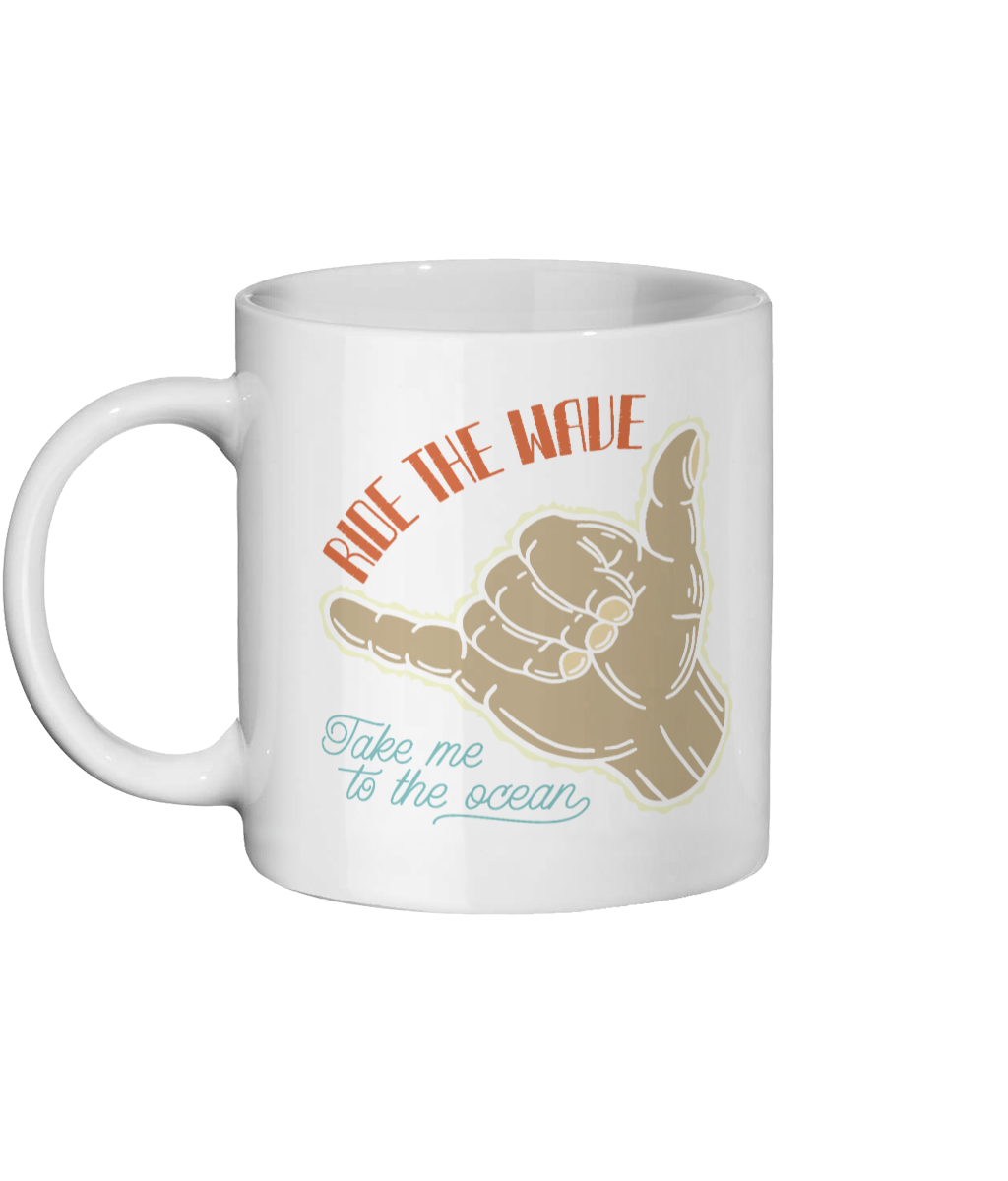 Ride The Waves Surfing Custom Mug - Status Mugs