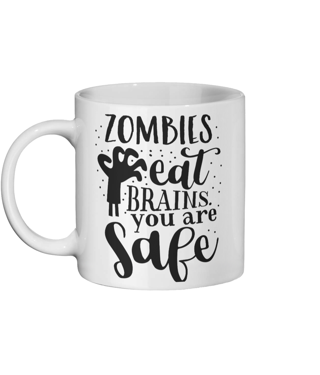 [personalised_mug]Personalised Coffee Mug- Zombies Eat Brains - status mugs