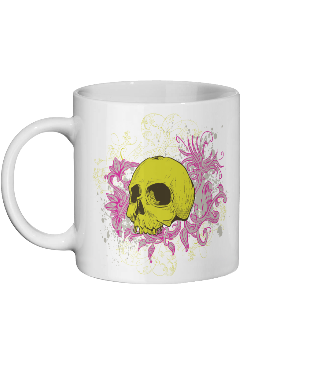 [personalised_mug]Urban Art Skull Custom 11oz Photo Mug - status mugs