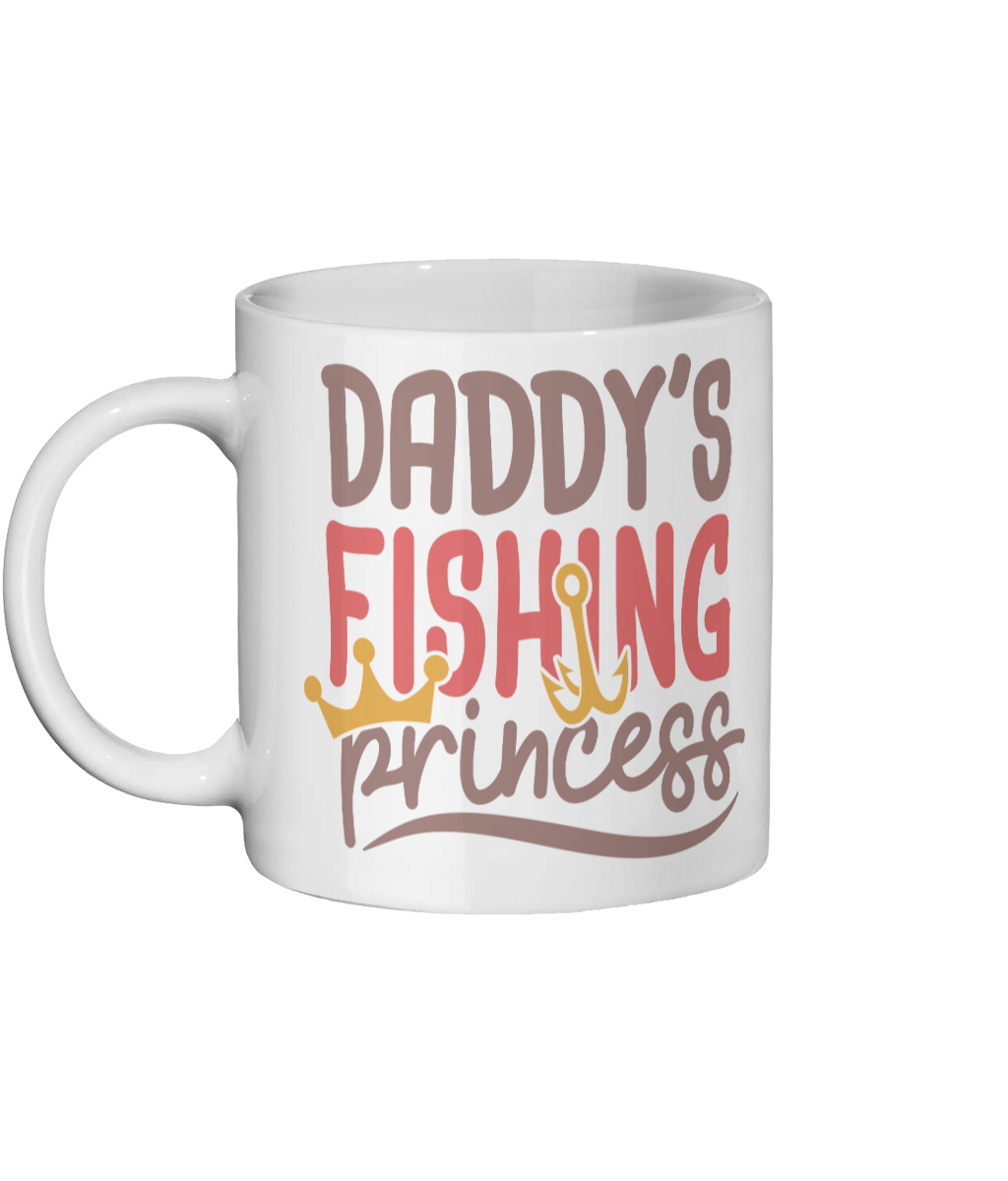 Personalised Custom Coffee Mug- Daddy's Fishing Princess - Status Mugs