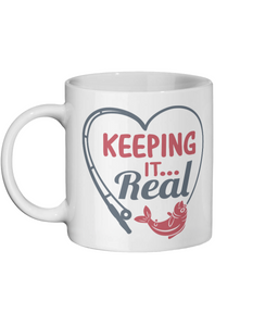 [personalised_mug]Personalised Coffee Mug-Keeping It Real - status mugs