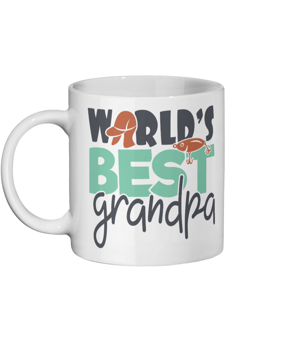[personalised_mug]Personalised Custom Coffee Mug- Worlds Best Grandpa - status mugs