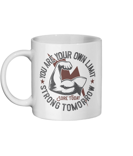 [personalised_mug]You Are Your Own Limit Personalised Gym Mug - status mugs