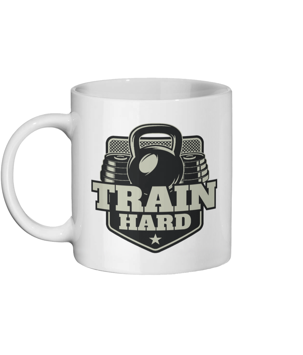 Train Hard-Personalised Gym Mug - Status Mugs