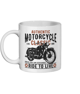 [personalised_mug]Classic Motorcycle Personalised Custom Mug - status mugs