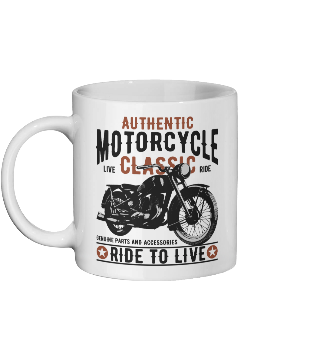 Classic Motorcycle Personalised Custom Mug - Status Mugs