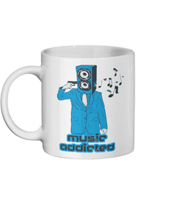 Music Addicted Custom Ceramic Mug - Status Mugs