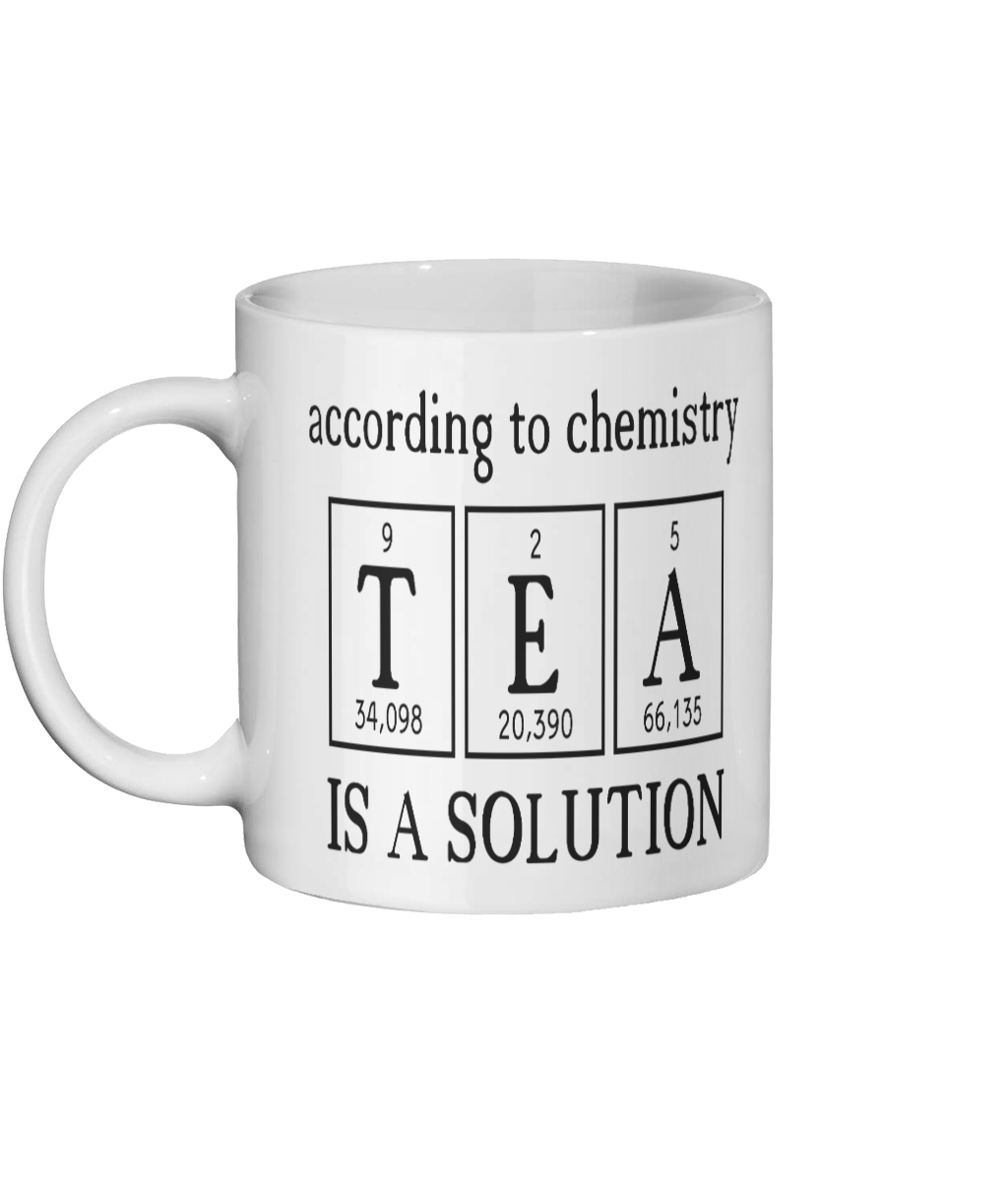 [personalised_mug]Personalised Coffee Mug/Tea Mug -Tea Is A Solution - status mugs