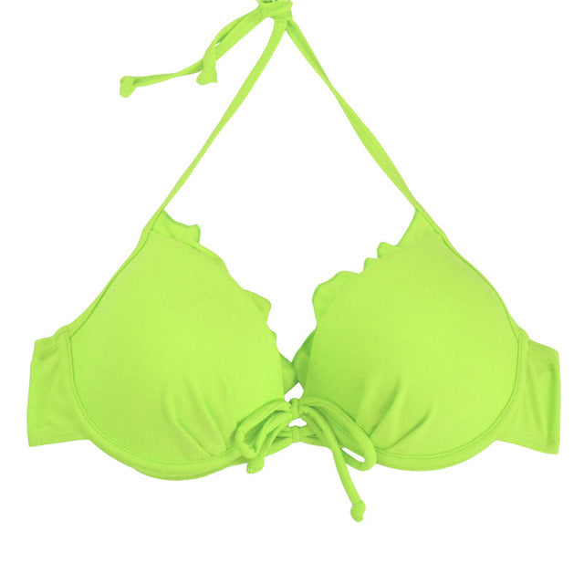 Tied Formed Cup Bikini Top