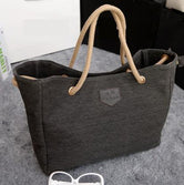 Large Canvas Beach Tote 4 Colors