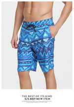 The Waves Men's Blue Board Shorts Quick Dry Surfing Trunks