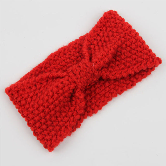 Wide knitted headband