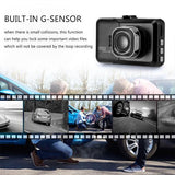 Discover R8 DVR Car Dash Camera HD 1080P Recorder G-sensor Technology
