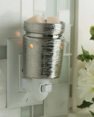 BRUSHED CHROME Pluggable Melt Warmer