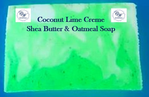 Coconut Lime Creme - Shea Butter & Oatmeal Handcrafted Soap