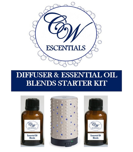 ULTRASONIC DIFFUSER & ESSENTIAL OIL BLENDS STARTER KIT