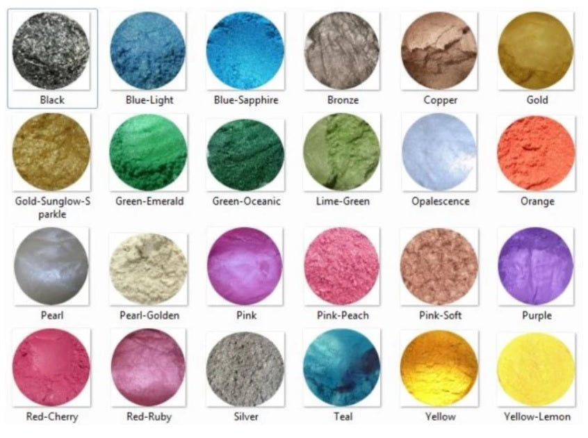 MICA Shimmer Mineral Powders (cosmetic grade) 100 grams