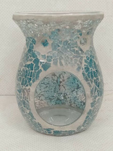 Mosaic Soft Blue & Pink - Tealight candle melt warmers