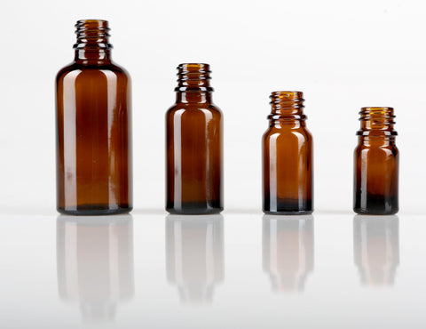 20ml Amber Glass Bottles with dripulator and tamper evident lid