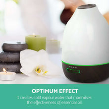 4-in-1 AROMATHERAPY LED ULTRASONIC HUMIDIFIER, DIFFUSER, PURIFIER & NIGHT LIGHT - 500ML