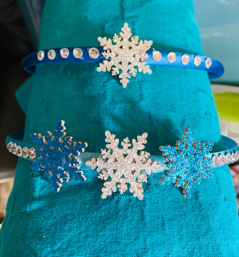 Snowflake Headbands with Rhinestones