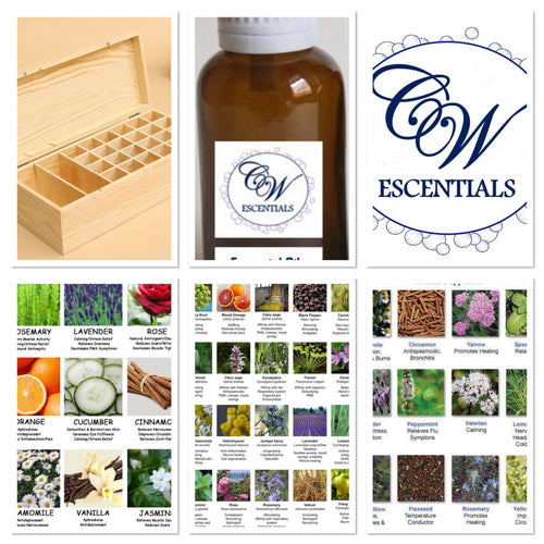AROMATHERAPY PURE ESSENTIAL OILS STARTER KIT