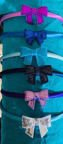 Sequined Bow Headbands