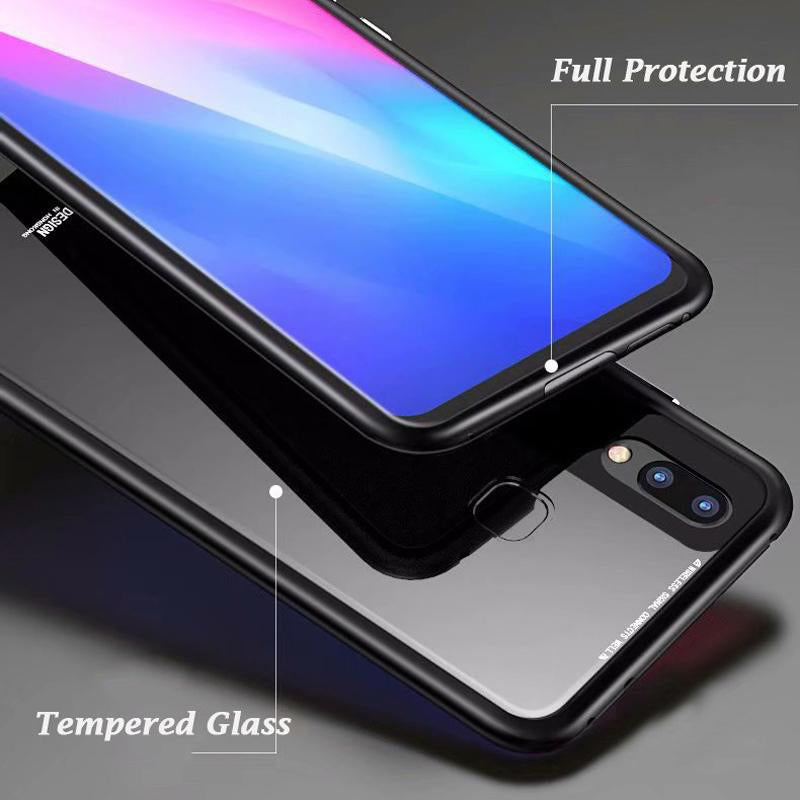 official photos 771b7 c2ae4 Tempered Glass Magnetic Adsorption Case for Redmi Note 5 Pro ...