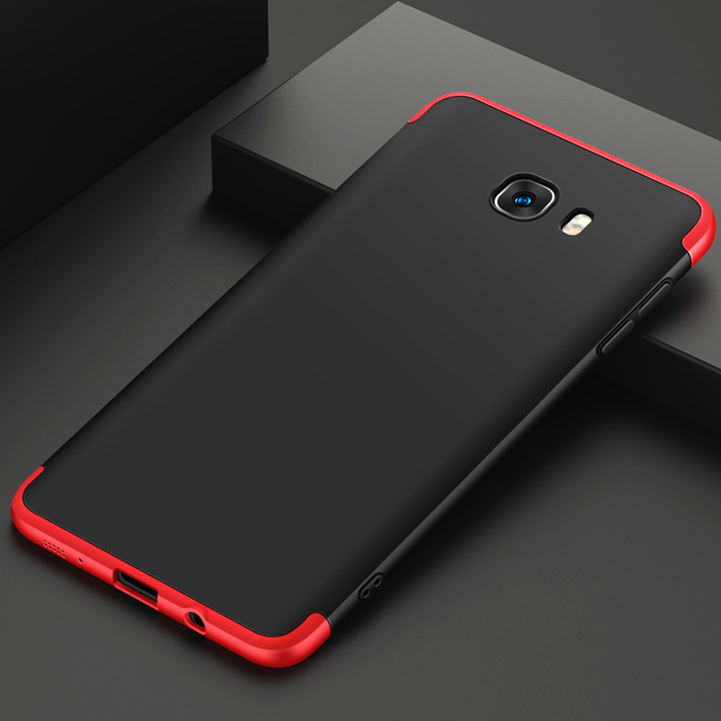 the latest a06da 5f6a6 GKK Dual Armor 360 Full Protection Case for Galaxy C9 Pro - Red Black