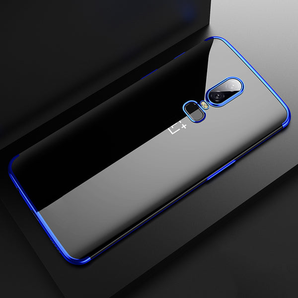 b561c40425 Luxury Transparent Plated High-end Case for OnePlus 6 ...
