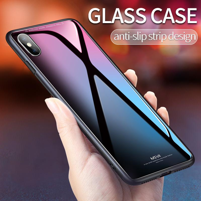 c50a4f1ce4e Msvii Luxury Slim Tempered Glass Case for iPhone X – PremiumCasesIndia