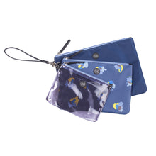 Trio Pouch in Navy Floral