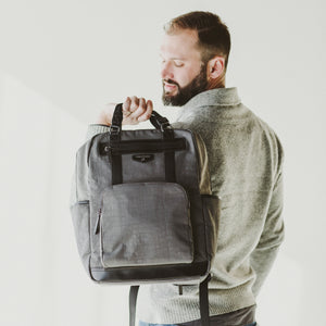 Unisex Courage Backpack in Grey