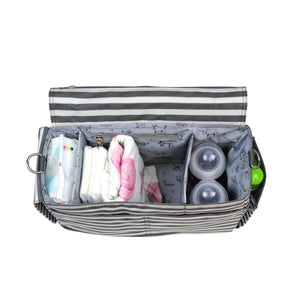 On-The-Go Stroller Caddy in Stripe Print