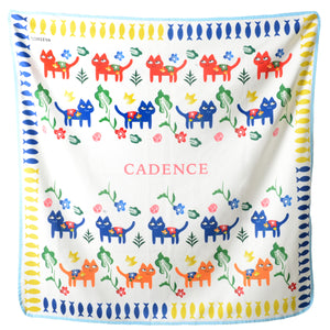 Cats Collection Baby Blanket in Primary Colours
