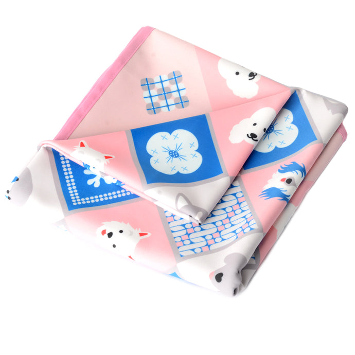 Dogs Collection Baby Blanket in Pretty Pink
