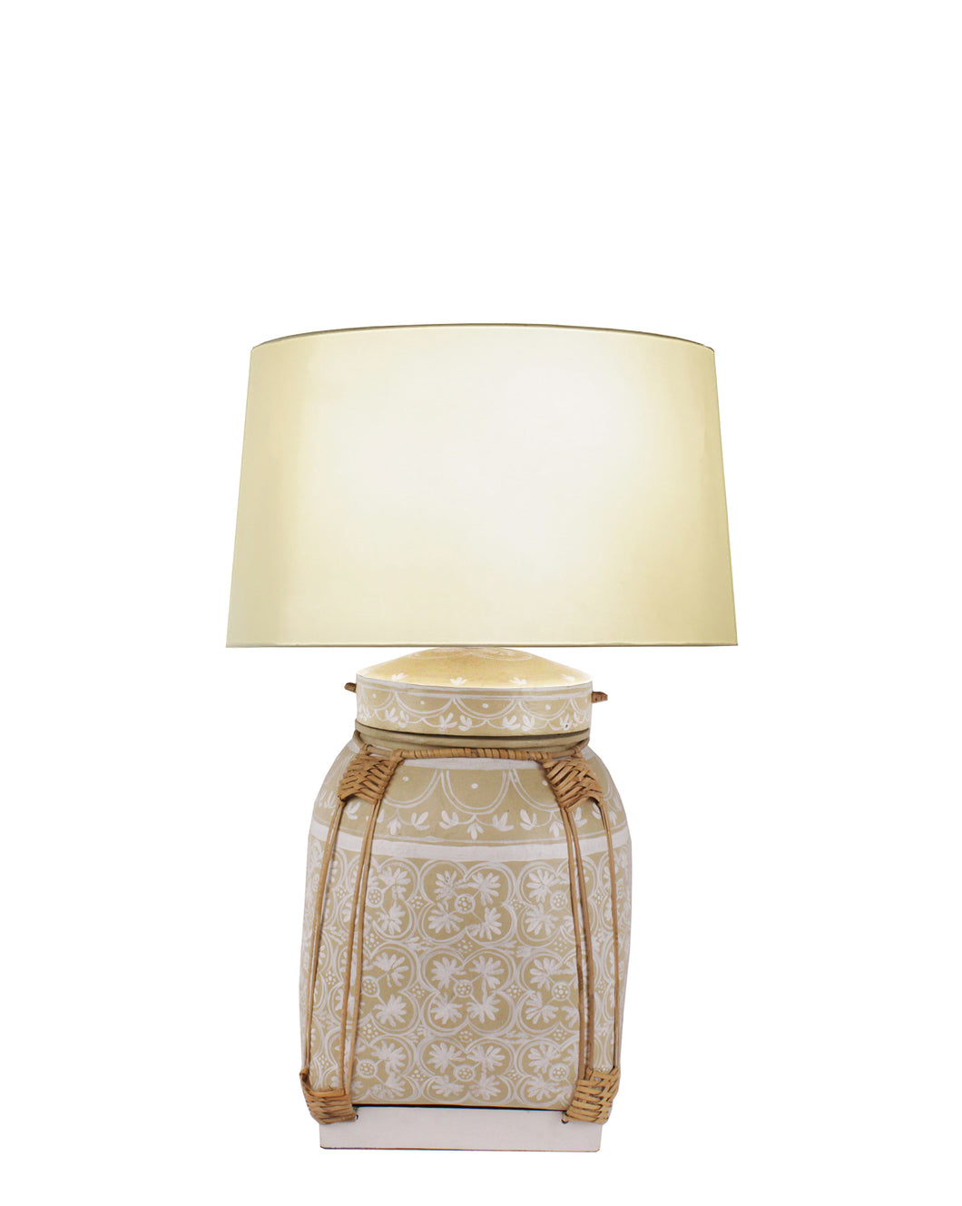 Chiang Mai Basket Table Lamp - Sand w/Shade