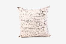 Load image into Gallery viewer, Square Pillow 50 Cm - Script