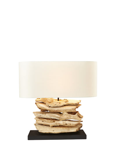 Nordlys Riverine Bleached - Table Lamp w/Shade