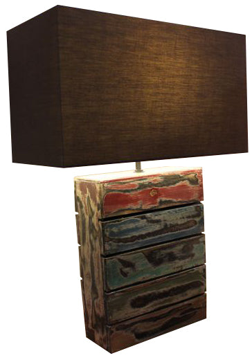 Nordlys Salvage Multi Colours -Table Lamp w/Shade