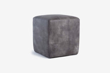 Load image into Gallery viewer, Buenos Aires Pouffe Full Leather in Elephant Grey