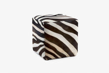 Load image into Gallery viewer, Buenos Aires Pouffe Full Cowhide in Zebra print