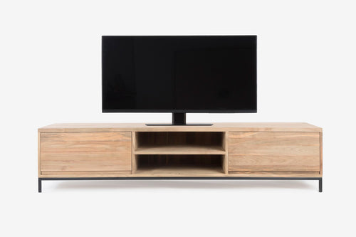 Firenze TV Console w/2 Drawers in MS Black Base