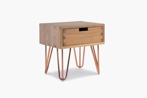 Kolding Bed Side Table in Recycled Teak