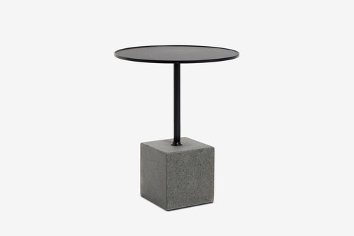 Krakatoa Square Granite Side Table